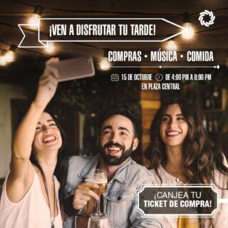 ¡Queremos compartir contigo una tarde especial!  Ven este viernes 15 de octubre a disfrutar de una tarde llena de compras, música en vivo y degustaciones en nuestra Plaza Central.   Te esperamos desde las 4:00 p.m. 🛍️🍻🍔  #SeguroParaTi #Panamá #DondeDebesEstar  #Arraiján #CentroComercial #ArraijánTownCenter